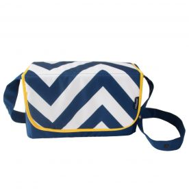 My Babiie Blue Chevron Baby Changing Bag