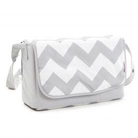My Babiie Grey Chevron Baby Changing Bag