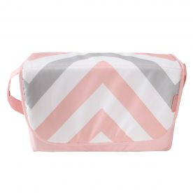 My Babiie Pink Chevron Baby Changing Bag