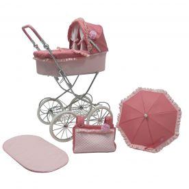 Roma Annie Classic Dolls Pram - Pink 3-16 years