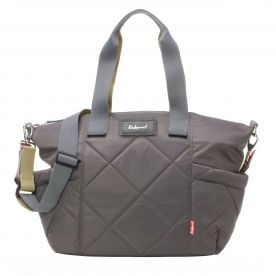 Evie Quilted Changing Bag - Charcoal