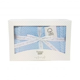 Funna Baby Capelli Baby Blanket Gift Set - Blue
