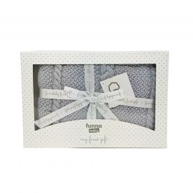 Funna Baby Capelli Baby Blanket Gift Set - Grey