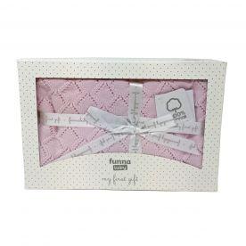 Punto Baby Blanket Gift Set - Pink