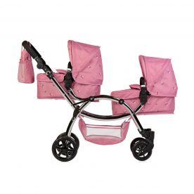 Roma Darcie Twin Dolls Pram - Pink 3-16 years