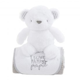 Bizzi Growin Bear Gift Set - Grey
