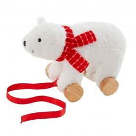 Bizzi Growin Polar Bear Pull Along Toy