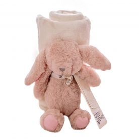 Bizzi Growin Rabbit Soft Toy and Blanket Gift Set