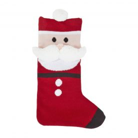 Bizzi Growin Santa Traditional Christmas Knitted Stocking