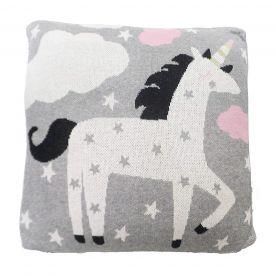 Bizzi Growin Unicorn Rocks Knitted Cushion