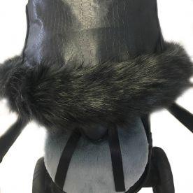 Black Pushchair Hood Fur