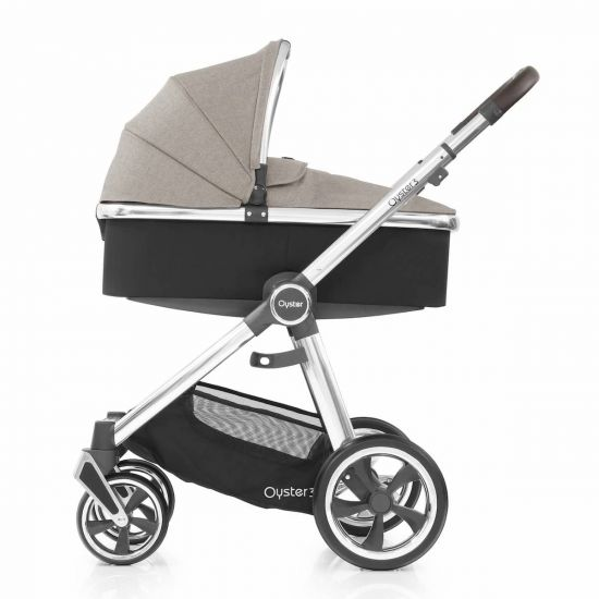 Babystyle Oyster3 Pram Carrycot Pebble Mirror