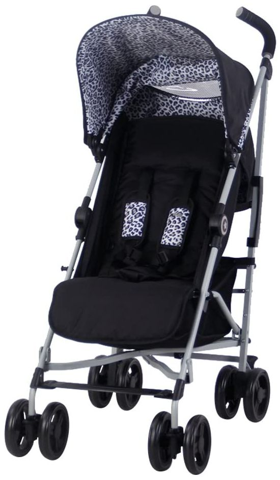 My Babiie MB02 From Birth Baby Stroller Black Leopard Buggy
